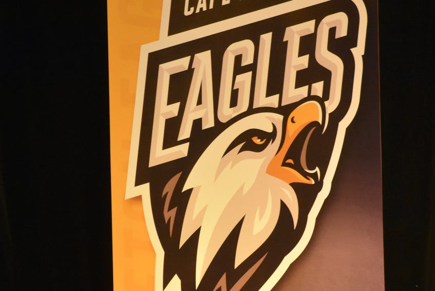 """The new Cape Breton Eagles logo was unveiled during a press conference at Centre 200 on Wednesday. As part of the new design, the team has dropped the word """"screaming"""" from its title."""