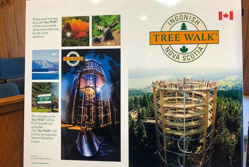 Ski Cape Smokey shared this photograph of their plans to create a year-round amenity known as a Tree Walk, similar to a structure located in Krkonoše, Czech Republic. FACEBOOK