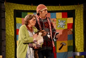 """Mauralea Austin and Logan Robins are two of the performers in """"He'd Be Your Mother's Father's Cousin,"""" now in repertory at Theatre Baddeck."""