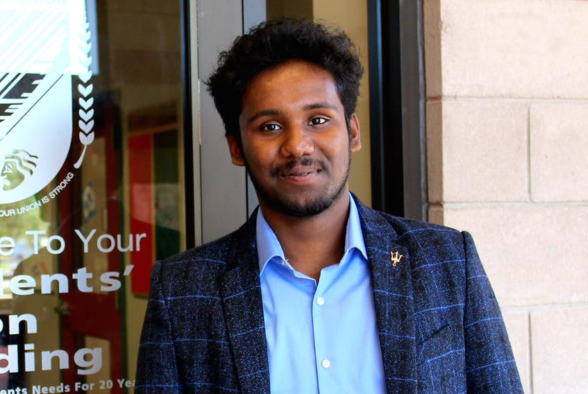 Samual Shaji, executive vice president at CBU Students' Union and deputy chairperson for the Canadian Federation of Students Nova Scotia.