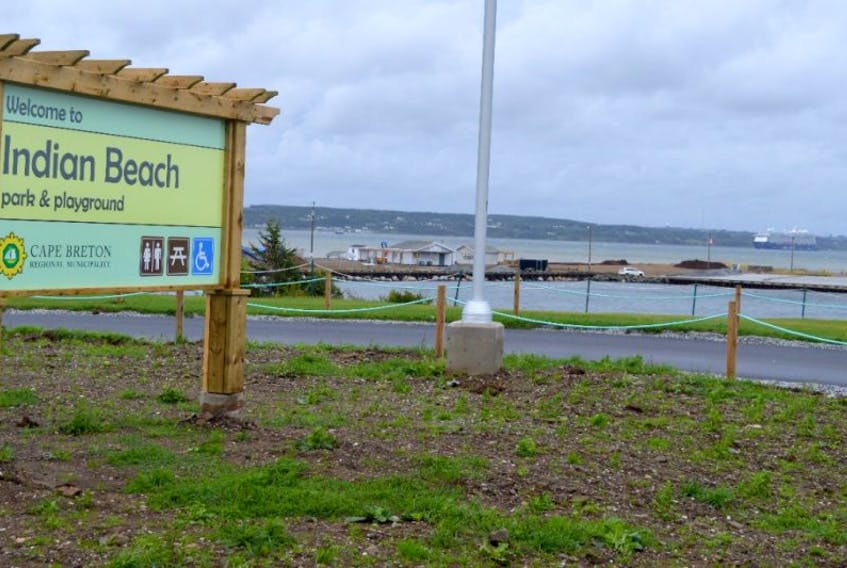 The Indian beach construction project is continuing in North Sydney. The project began in early June and was expected to be completed in 10 weeks but weather caused minor delays in the project.