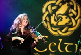 Mairi Rankin, from the Cape Breton-based band Beòlach, plays during the Causeway Ceilidh closing concert for Celtic Colours 2019 held in Port Hawkesbury on Oct. 19. Beòlach was one of two bands chosen as this year's Celtic Colours artists in residence. The other was Breabach from Scotland. COREY KATZ