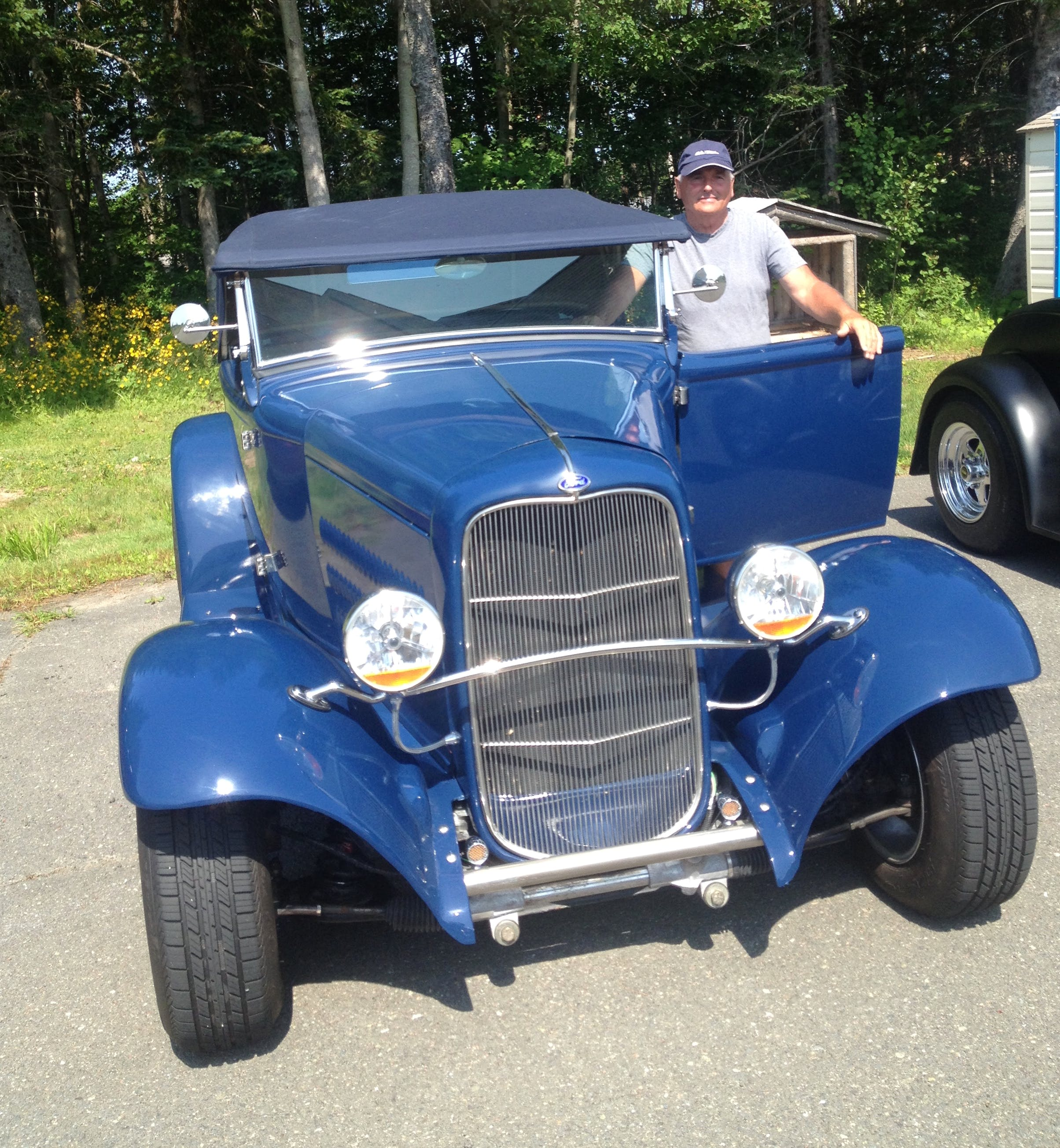 Donald Hiscock of Georges River loves his 1930 Ford Roadster. He started restoring it two years ago and it is finally complete.