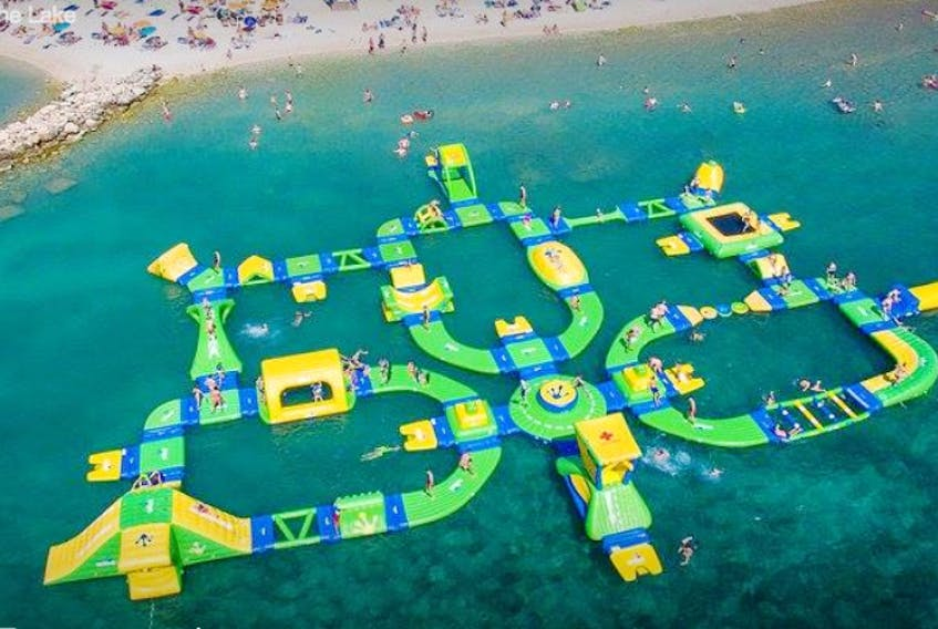 An RV campground proposed for Big Pond may include such amenities as the water playground shown above. SUBMITTED PHOTO