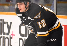 Connor Trenholm of the Cape Breton Eagles is playing in his rookie season in the Quebec Major Junior Hockey League. The Cole Harbour native has five assists in 42 games and is on the verge of scoring his first career major junior goal.