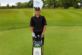 Aubrey Farrell from Seaview Golf and Country Club won the 52nd annual Cape Breton Roadbuilders championship presented by Caper Auto Sales July 14 at Lingan Golf and Country Club. Farrell defeated defending champion Kevin George and former champion Brett McKinnon in a two-hole playoff. Farrell birdied the 18th hole from off the green to win the title. The win marked Farrell's first Roadbuilders title. PHOTO SUBMITTED/DONNIE ROWE