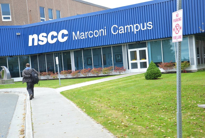 The front entrance to NSCC Marconi Campus is shown in this file photo. CAPE BRETON POST PHOTO