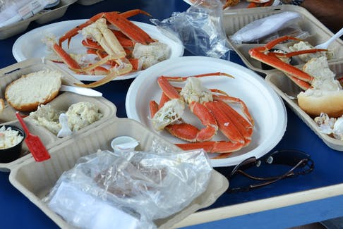 This file photo from a previous Crab Fest shows a sample of the kind of dinner attendees can expect to enjoy at the 27th Louisbourg Crab Fest starting Aug. 3 at 7:30 pm on the Louisbourg Waterfront.