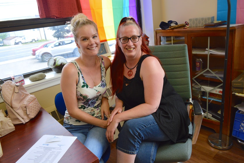 Vanessa Walker, left, and Angela Quinn, two members of Pro-Choice Cape Breton, say thanks to an online fundraising campaign their group will be launching a pro-choice billboard in the CBRM within the coming weeks.