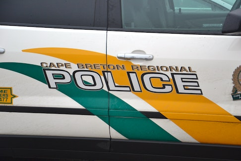 The Cape Breton Regional Police Service logo is seen on the side of a CBRPS police file photo.