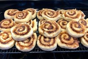 These are textbook cinnamon rolls, via Port Hood's Mary Janet MacDonald.