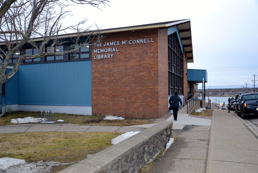 The McConnell Memorial Library in Sydney. CAPE BRETON POST PHOTO