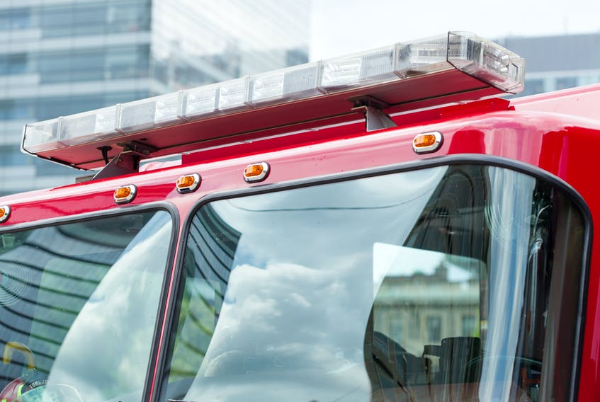 Fire truck stock image.
