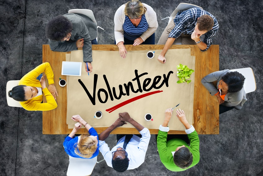 Volunteer stock image.