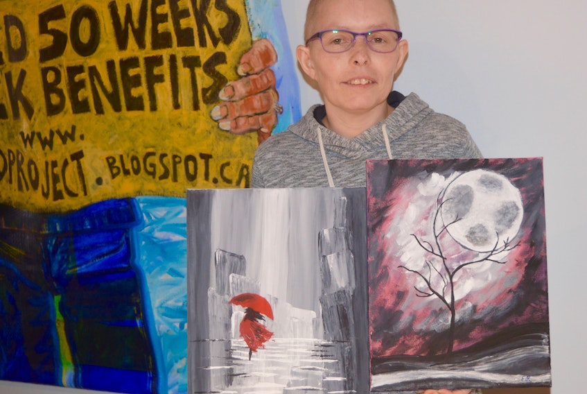 If fighting a rare form of breast cancer wasn't enough of a war, Erin Richard has also taken on the battle of fighting for better EI benefits for cancer patients. She was one of nine artists whose works was on display during this year's annual Art of Living exhibit at the Cape Breton Centre for Craft and Design.