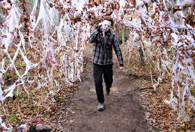 There were plenty of scares along the Fright Night trail for family day, including Michael Myers (from the horror film franchise Halloween) who chased people down the trail, weapon in hand.