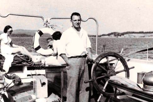 Capt. Walter Boudreau at the helm of The Yankee.
