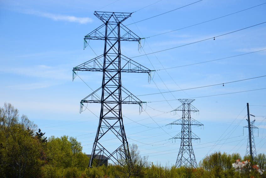 High voltage power lines are shown in the Mill Creek area near Point Aconi Road. Nova Scotia Power says around 20 incidents of copper wire theft to its equipment was reported in Cape Breton during the month of May.