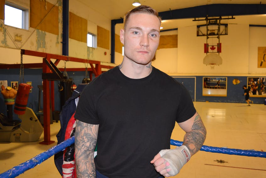 Cape Breton boxer Ryan Rozicki is shown training for a fight in this file photo. Promoters are promising an action-packed, Las Vegas-style show for the return of professional boxing to Sydney on Nov. 25, with Rozicki boxing in the main event. CAPE BRETON POST PHOTO