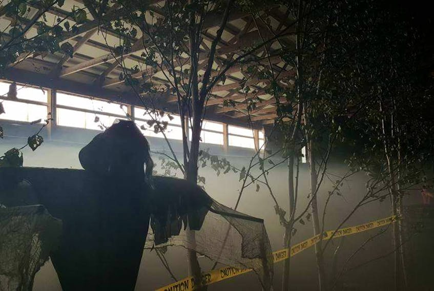 """CHRISTIAN ROACH/CAPE BRETON POST The """"Haunted Barn on Morbid Mountain"""" in Coxheath is pictured above. It's the first year of the event and has been a huge success. The maze is also open until Halloween evening."""