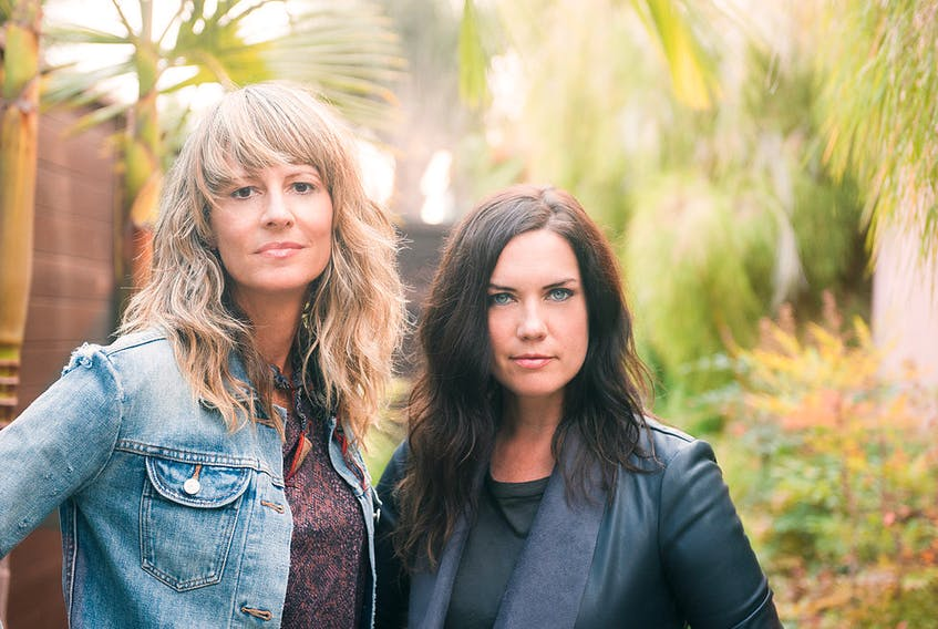 Brenley MacEachern, left, and Lisa MacIsaac are the members of Madison Violet.