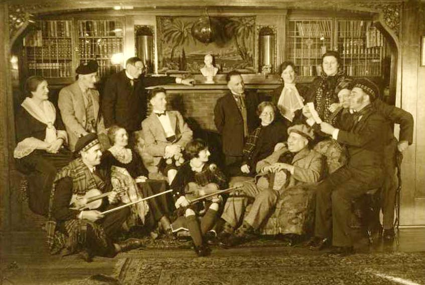 A scene from the Cotter's Saturday Night. Cotter's Saturday Night, 77-1374-1508, ca 1935, Beaton Institute, Cape Breton University.