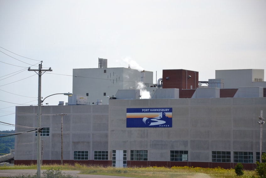 An exterior view of Port Hawkesbury Paper in Point Tupper.