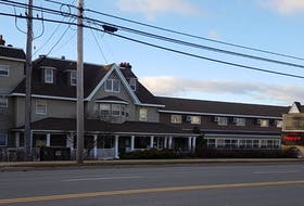 This is a Kings Road view of the Harbourview Inn & Suites, now listed for sale.