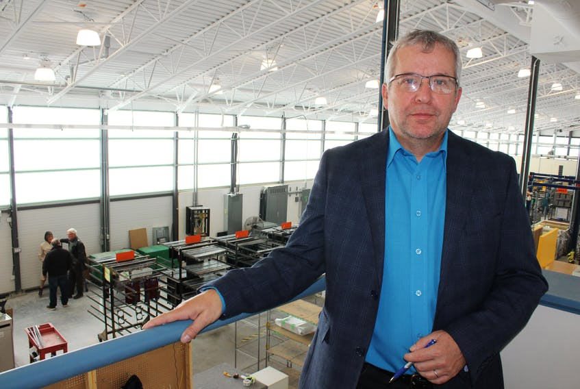 Steve Lilley, president and CEO of Protocase Inc., is expecting to see an increase in client contracts, particularly for the aerospace and defence sectors, following the $4.5-million expansion of Protocase building two located on Ferry Street in Sydney. The company, which has a full-time workforce of more than 200 people, has had recent year-over-year growth of about 30 per cent. The view of the expanded Protocase building two in the above photo shows the building's Solera Wall windows, an innovative glass technology manufactured by Sydney company Advanced Glazings Ltd.