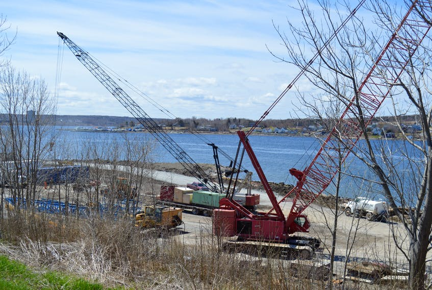 Work is underway at the construction site of a second cruise ship berth for the Port of Sydney but it still remains to be seen how much the CBRM will ultimately pay for the land it expropriated for the $20-million project.