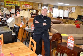 Blair Slade, owner of Blair's Used Furniture on Union Street, Glace Bay, says he will be attending the community mixer hosted by the revitalization group bayitforward at Royal Canadian Legion branch 3 Glace Bay on Wednesday. The 180 businesses in Glace Bay have been invited to attend the networking event.