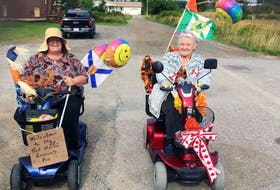 Although maybe a bit over the age limit to participate, Brenda Cathcart and her mother, Elizabeth Thomas, volunteer to be Grand Parade Marshalls for the 2017 Children's Parade.