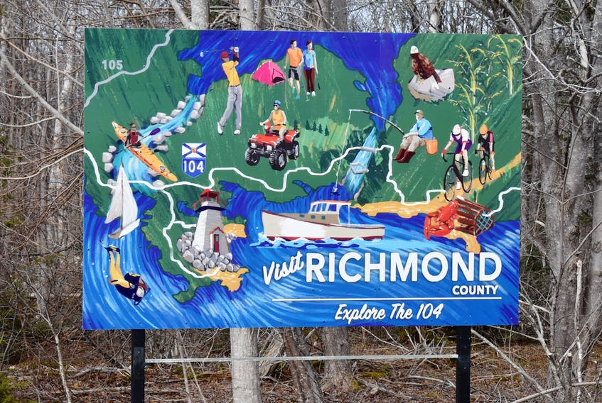 This colourful road sign encourages travelers on Cape Breton's Highway 104 to stop and play in Richmond County. The unmistakably beautiful municipality may be short on population (less than 9,000) but offers visitors world-class scenery and a wide array of activities. But critics of the county council say the body has missed out on development opportunities that would be been economically beneficial to the municipality.