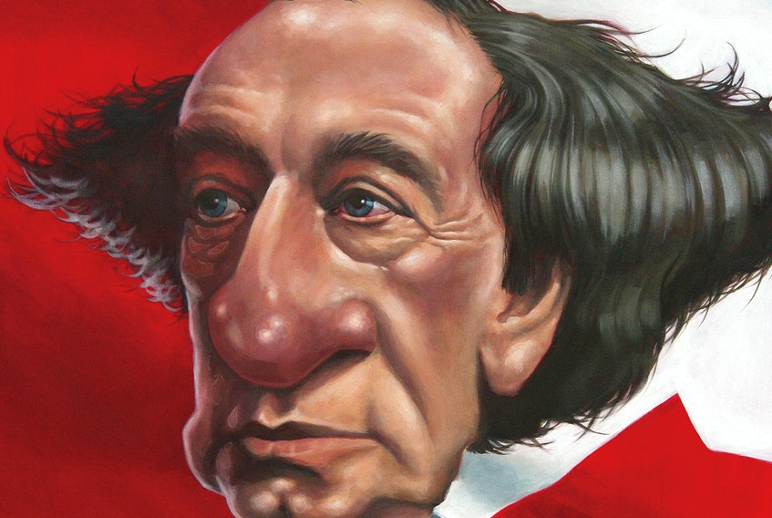 This Bruce MacKinnon work depicting Canada's first prime minister Sir John A. Macdonald will be among the caricatures on display at the J. Franklin Wright Gallery in Port Hawkesbury later this month.