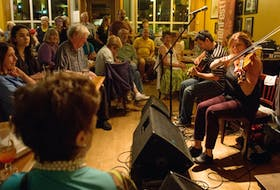 People filled the Red Shoe Pub in Mabou to hear music that's literally up-close-and-personal from Wendy MacIsaac, Brent Chaisson and Howie MacDonald during last year's KitchenFest.