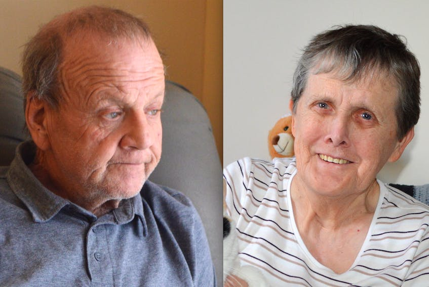 Originally of Ingonish, Clyde Harvey, left, has been alone on Christmas Day for many years. Judy James, 72, of Sydney has spent past Christmas Days with her cat.