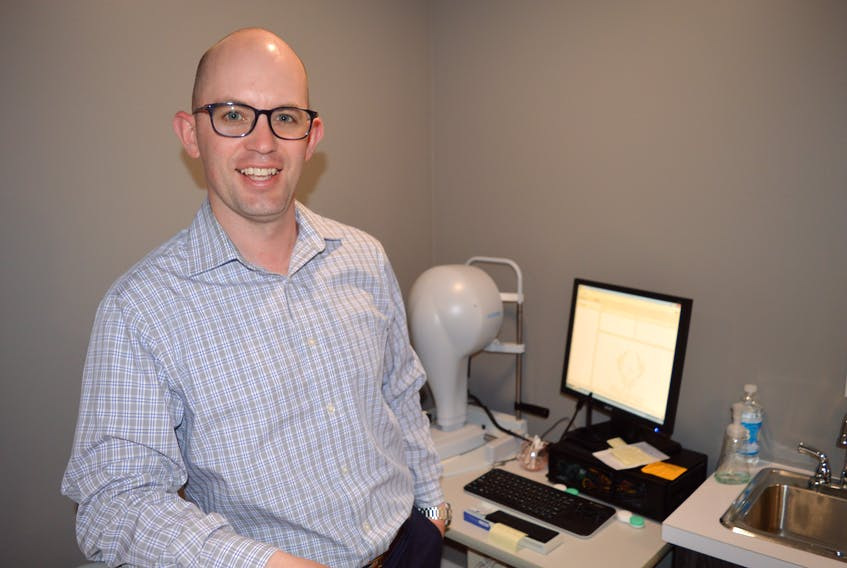 Optometrist Dr. Shaun MacInnis left Halifax about four years ago and returned to Cape Breton where he now operates Island EyeCare, specializing in dry eye disease.