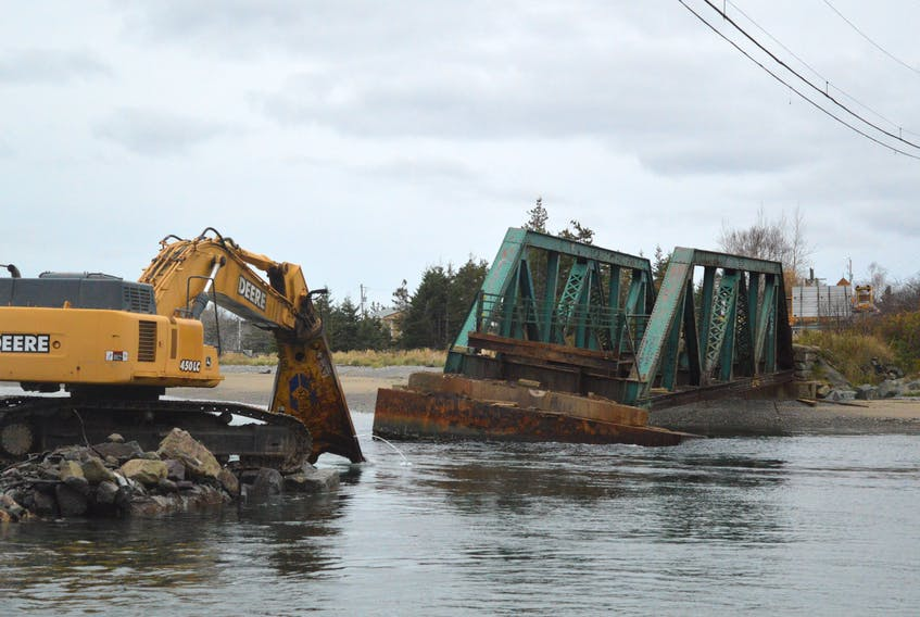 After 140 years of serving trains and automobiles, the bridge at Mira Gut is no more. And, the province has no immediate plans to replace the span that crosses the mouth of the Mira River. The bridge was closed and demolished this past summer after it was deemed to be structurally unsafe.
