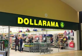 Shoppers are shown recently at the checkout of the current Dollarama location at the North Sydney Mall. Construction is underway for the new Dollarama at the mall, which will be located in the former Bargain Shop space.