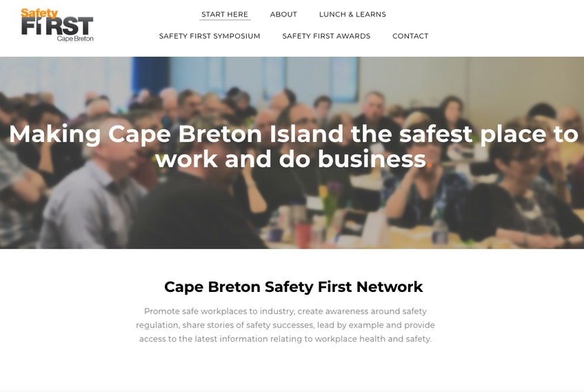 The website for the Safety First in Cape Breton Network is shown.