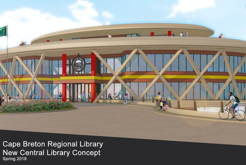A concept by Trifos Design Consultants of Sydney on the proposed Sydney library, to be located along the Sydney waterfront.