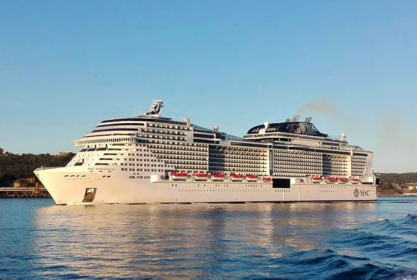 The MSC Meraviglia at Lisbon, Portugal, on June 7, 2017. The cruise ship, currently the fourth largest in the world, will visit the port of Sydney on two stops in October 2019.