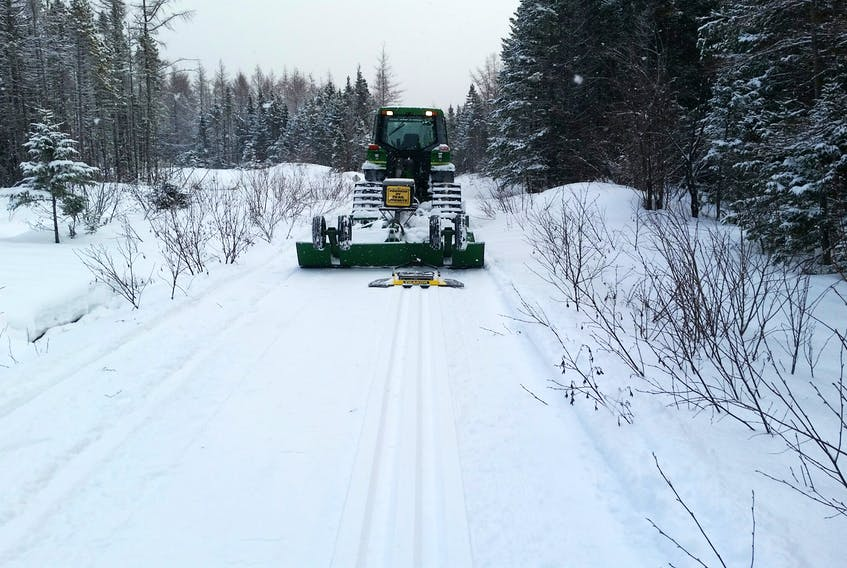 Victoria County invested in a track setter so that the Crowdis Mountain Snowmobile Club could groom its cross-country ski trail on Dennison Road, which is four kilometres outside of Baddeck.