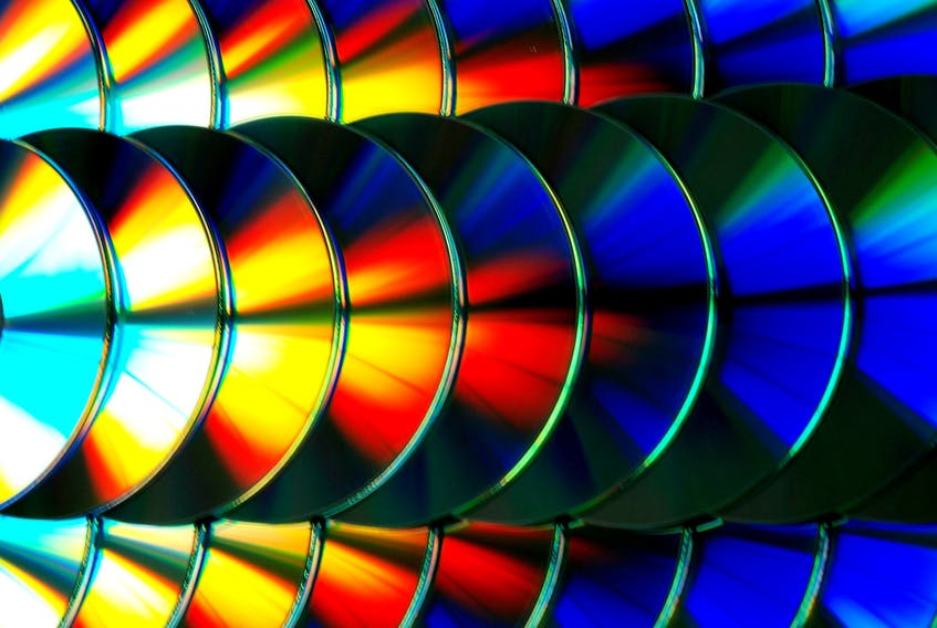 A tray of CDs.
