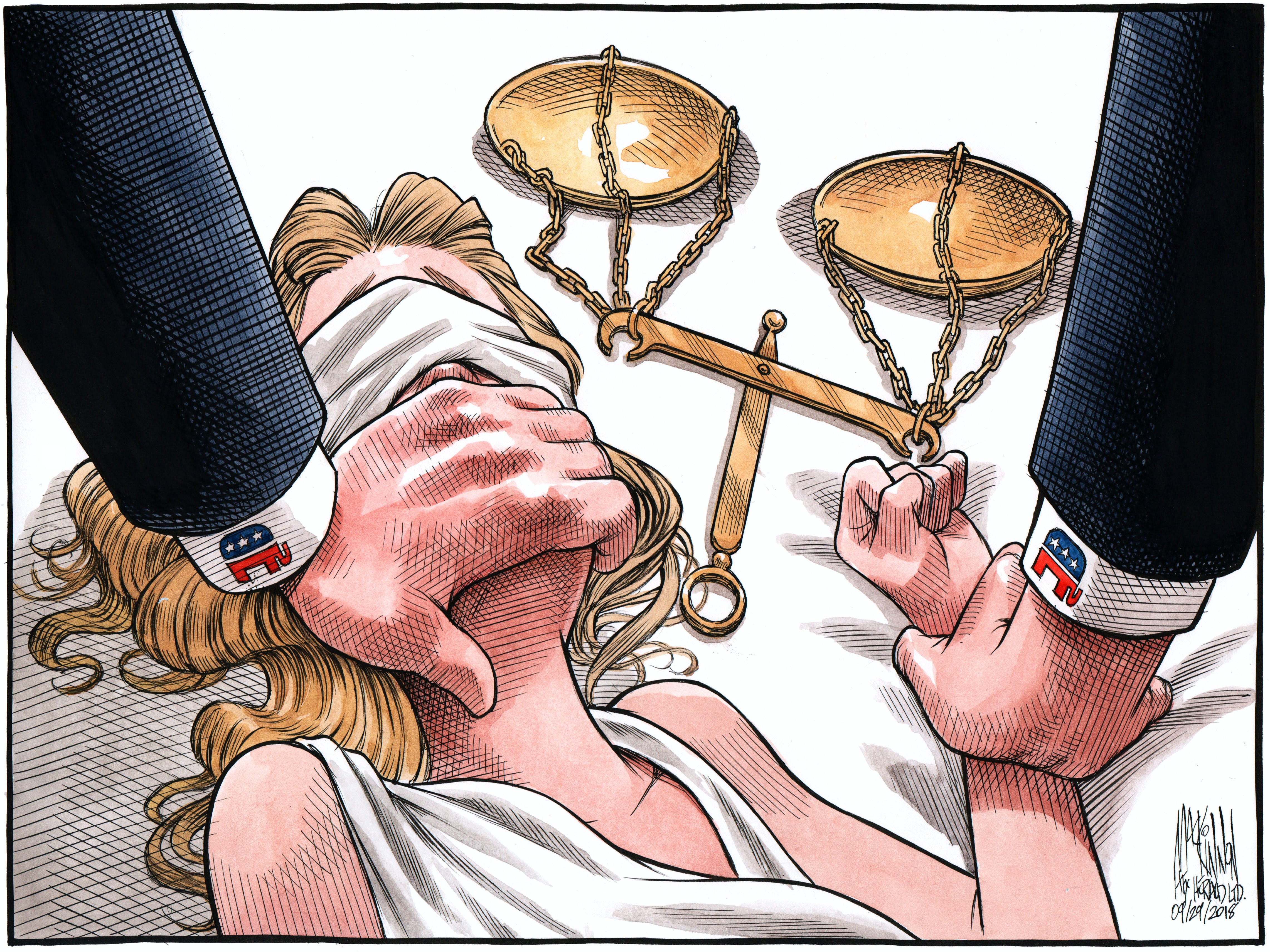 Bruce MacKinnon's editorial cartoon for Sept. 29, 2018.