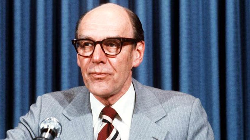 Although very different from Angus Macdonald, Robert Stanfield, premier of Nova Scotia from 1956 until 1967, was also a very trusted politician, Graham Steele says.