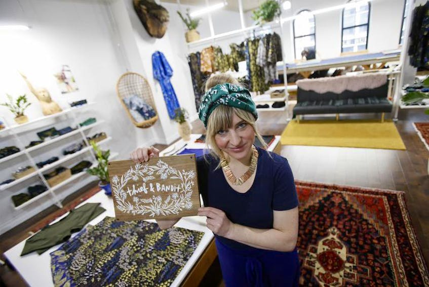 Amie Cunningham of The Thief and Bandit started her women's and children's closthing business 10 years ago and now she's opened a retail and production space on Barrington Street in Halifax.