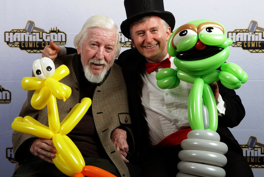 Halifax magician David Johnston got to present some of his balloon creations to Caroll Spinney, the puppeteer who's played Big Bird on Sesame Street since 1969, last weekend in Hamilton, Ont.