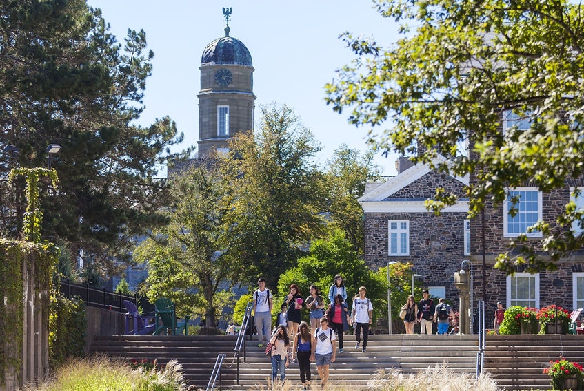 The campus at Dalhousie, the largest university in the Maritimes. Half of Dal's students are from outside the province, yet many Nova Scotia students see a degree as a ticket out of town. Taken Sept. 12, 2016.