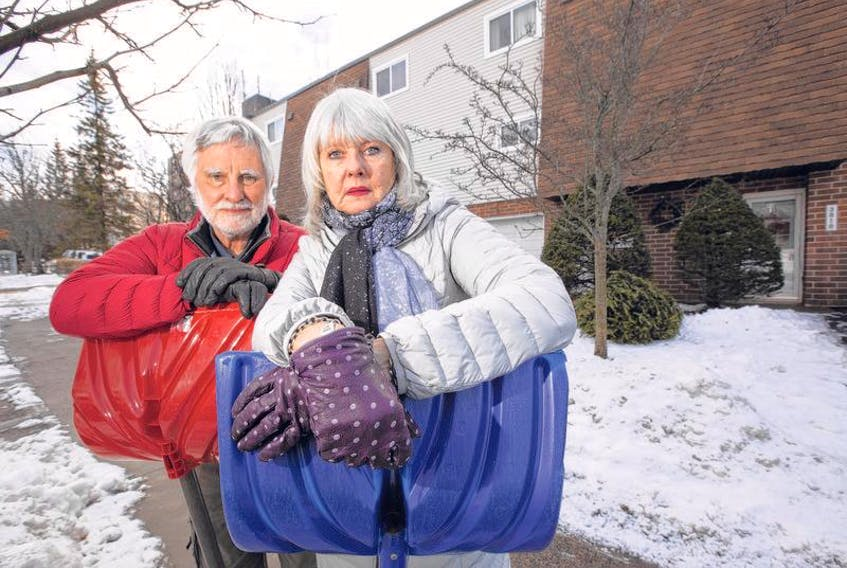 Diana and Dan Burns are upset that city messed up their clear sidewalk in the last storm.